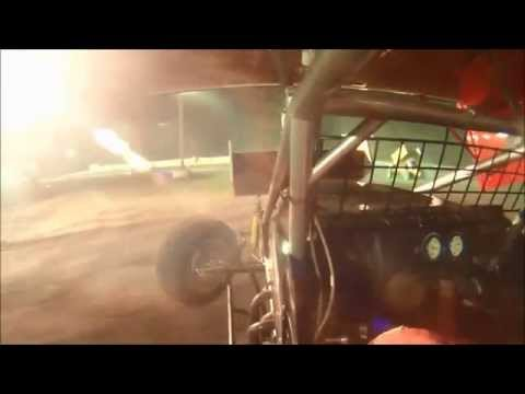 Rick Martel #28 In-Car Flip | Sprint Cars of New England at Bear Ridge Speedway 9-20-2014