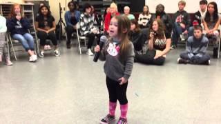 Kamea, age 3, sings Let it Go at SJH