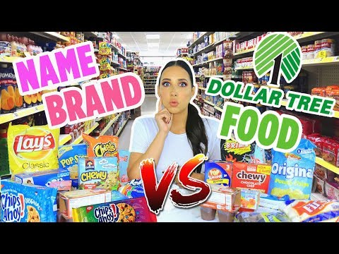 DOLLAR TREE FOOD Vs NAME BRAND FOOD | Mar