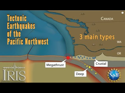 Pacific Northwest Earthquakes—3 Types (Educational)
