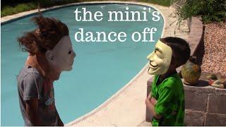 Mini Michael and mini Mr. Anonymous dance off!