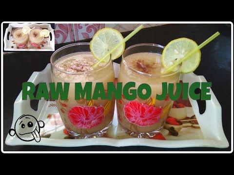 MANGO JUICE RECIPE- How to make Raw Mango Juice at home - fresh mango juice/Summer Drink