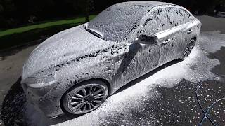 Infiniti Q50 Red Sport FOAM WASH - Black Dirty Car Wash | Auto Fanatic