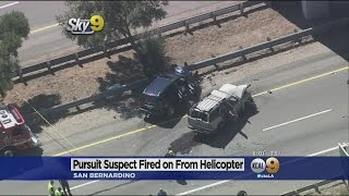 Suspect Dies After Deputy Opens Fire From Helicopter Along 215 Freeway