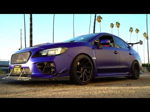 is this wrap, BLUE or PURPLE!? SUBARU STi showing at SEMA 2017