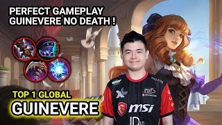 GUINEVERE NXL HINELLE Without DEATH ! Top 1 Global Guinevere Gameplay - Mobile Legends