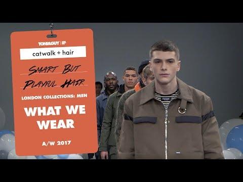 Catwalk Hair: Smart but playful hair at What We Wear London Fashion Week Men's AW18