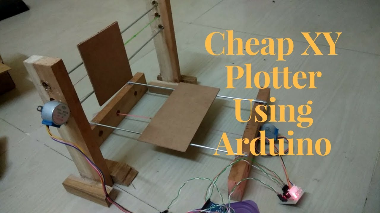 Making xy plotter using arduino uno and byj stepper