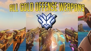 Overwatch - ALL [OFFENSE/DPS] HEROES GOLD {MILESTONE MONTAGE}