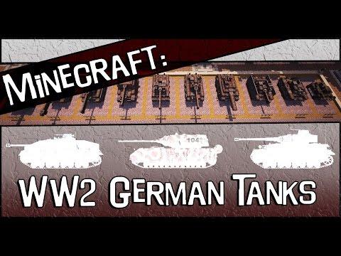 Minecraft Designs: WW2: German Tanks