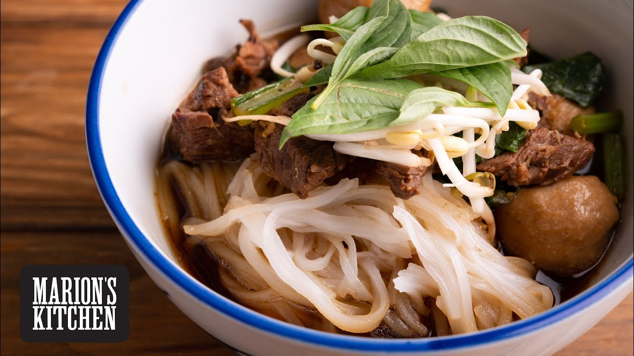 How To Make Thai Beef Noodle Soup Marion S Kitchen