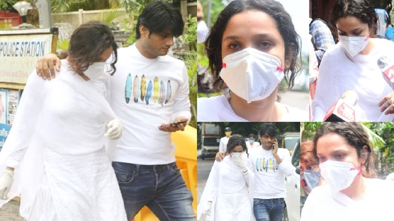 Ankita Lokhande Visit Sushant Singh Rajput House To Meet & Support His Family