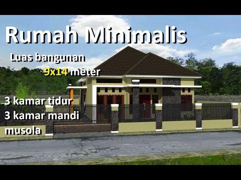 Desain Rumah Minimalis Ukuran 9x12  rumah minimalis 9 x14 meter 3 kamar tidur