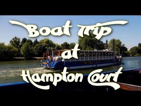 Hampton Court Palace to Kingston - Boat Trip on thames river - UK