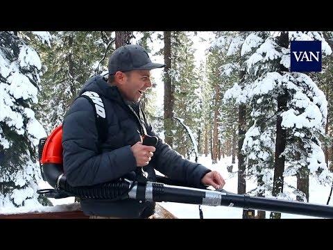 La ametralladora casera de bolas de nieve
