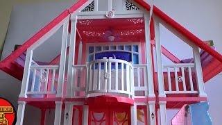 Распаковка, новый дом  Барби Малибу Калифорния Barbie Malibu House