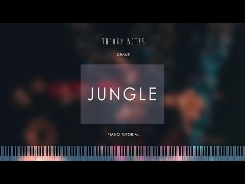 How to Play Drake - Jungle   Theory Notes Piano Tutorial