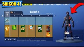 ON BUY THE NEW SAISON COMBAT PAS 4 on FORTNITE BATTLE ROYALE!