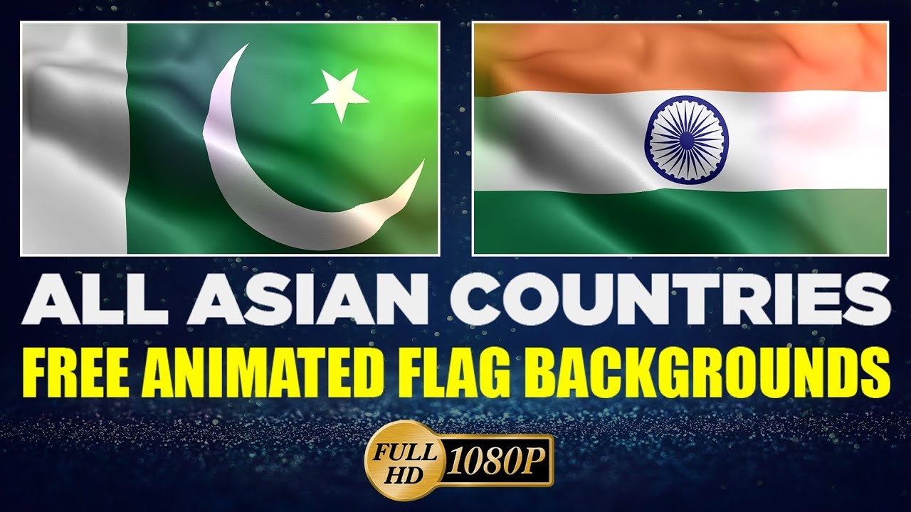 Animated Flag Backgrounds | All Asian Countries