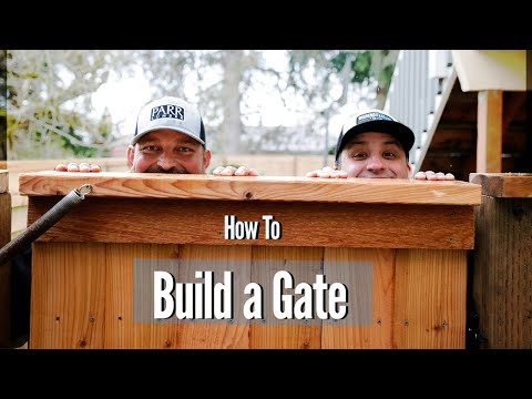 Building an Anti-Sag Steel/Wood Gate | How To