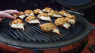 Stuffed Blue Crabs  Cooked On A Grill!