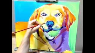 Dawgart - Labrador Retriever - Speed Painting By Alicia Vannoy Call