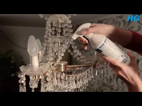 Вопрос: Как вымыть хрустальную люстру?