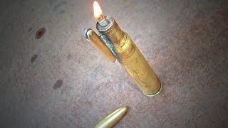 Самодельная бензиновая зажигалка из гильзы ДШК (Часть 2. Обзор)