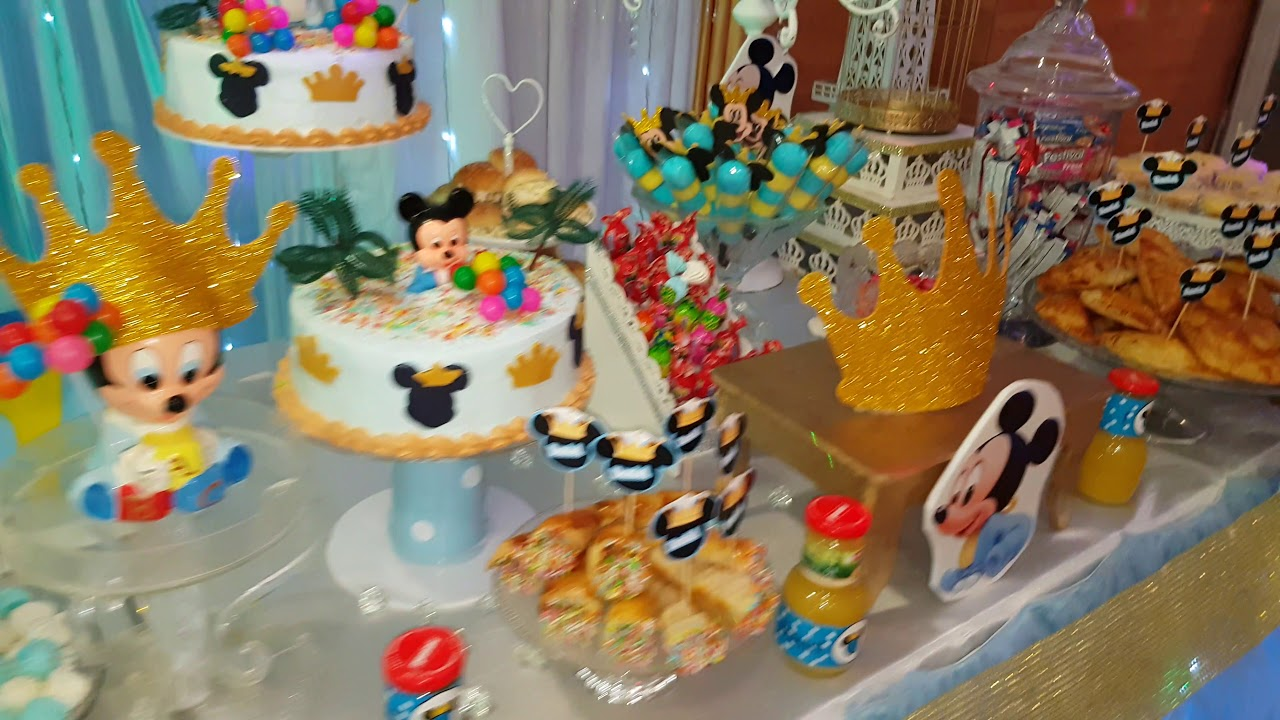 Decoracion mickey baby principe ideas fiesta youtube - Ideas decoracion fiesta ...