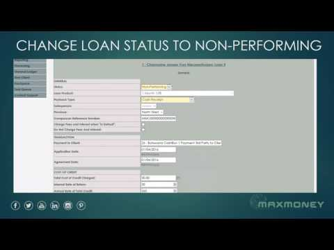 MAXMONEY - Change Loan Status to Non Performing
