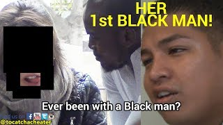 GF STRETCHED BY BLACK GUY FOR 1st TIME - BOYFRIEND SHOCKED!