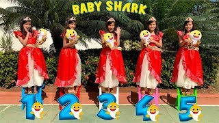 Baby Shark ★ Five little Babies Jumping on the bed song, nursery rhyme for children, baby songs