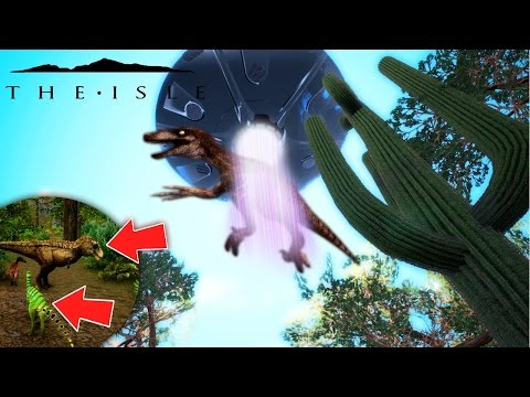 The Isle - BABY HYPO SPOTTED? DINOSAUR ABDUCTED BY ALIEN UFO, RIDING THE UFO & PROGRESSION Gameplay