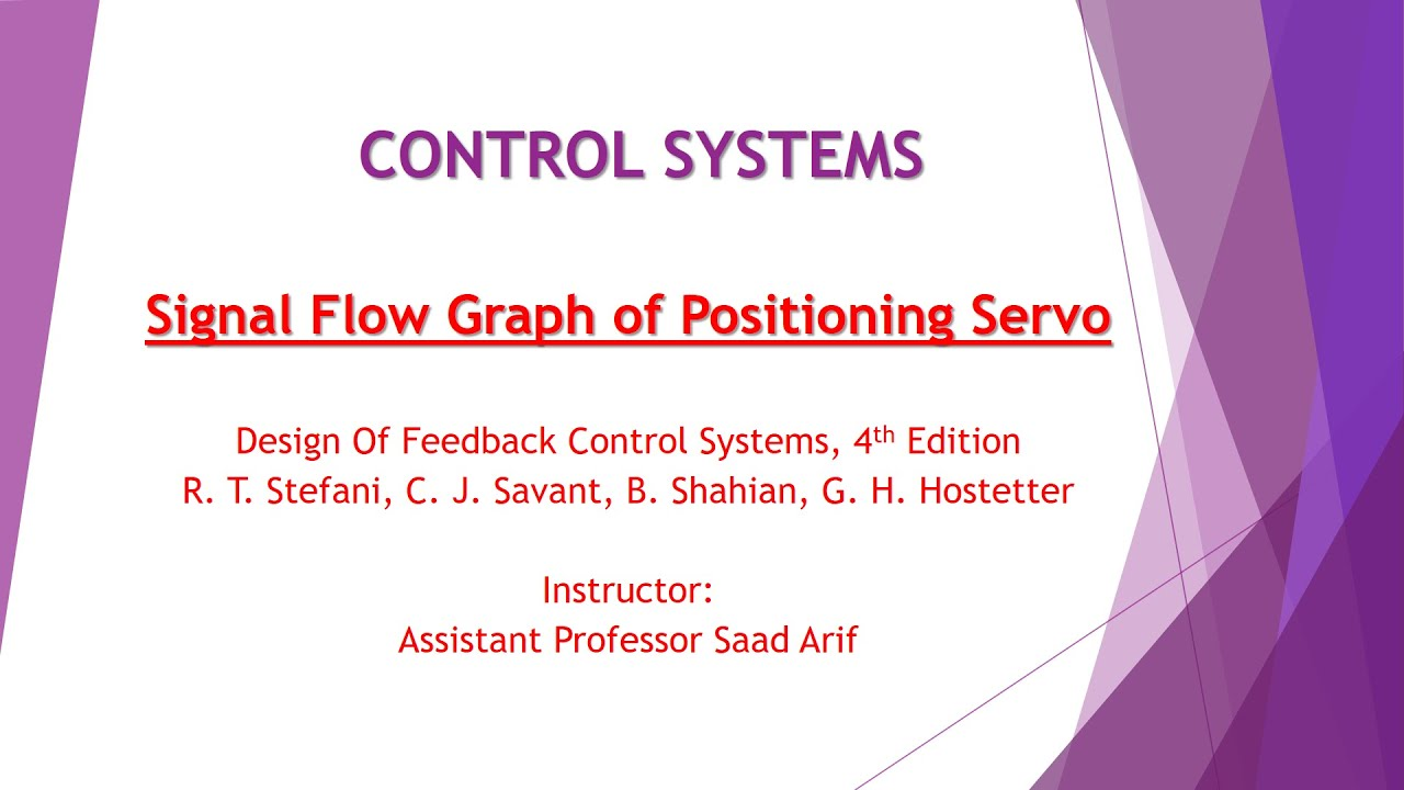 Signal Flow Graph Of Positioning Servo System Youtube