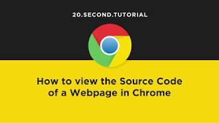 View source code of a webpage in Chrome   Chrome Tutorial #13