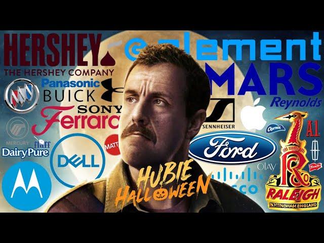 HUBIE HALLOWEEN top 10 product placement brands