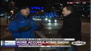 WHAG Morning News - Morning Snow with Jim Cantore & The Weather Channel - 12/10/13