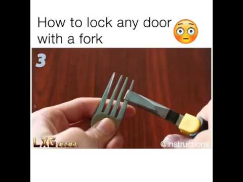 How To Lock Any Door With A Fork Youtube