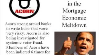Barack Obama and ACORN to blame for the economic meltdown?