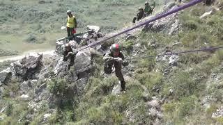 Преодоление скального участка на всеармейском этапе конкурса «Эльбрусское кольцо-2018»