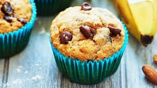 Vegan Banana Chocolate Chip Muffins - Show Me The Yummy - Episode 31