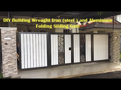 DIY Building Wrought Iron (steel ) and Aluminium Folding Sliding Gate