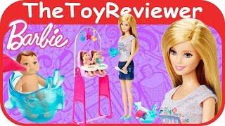 Mattel Barbie Careers Twins Babysitter Playset Unboxing Review By Thetoyreviewer