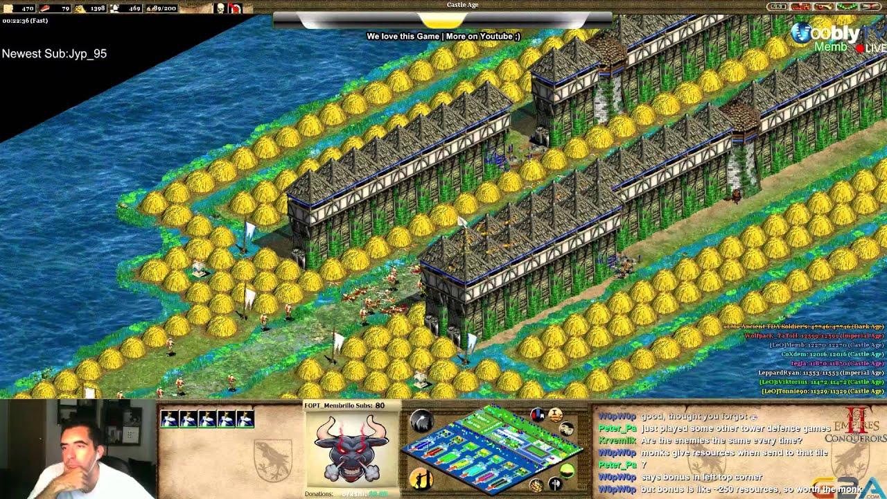 age of empires 2 scenario tower defense ancient lake youtube