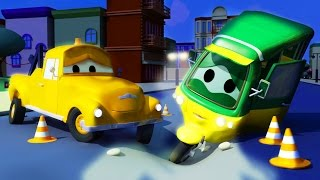 TOM The TOW TRUCK and TAO the TUKTUK in CAR CITY | CARS & TRUCKS construction CARTOONS for CHILDREN