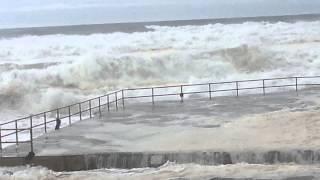 Wild surf wombarra ocean pool, now