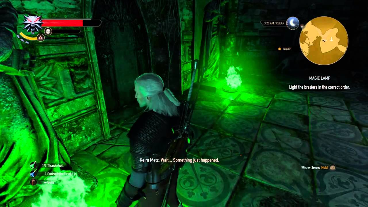 The Witcher 3 Magic Lamp Puzzle Solution Youtube