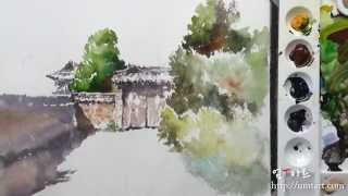 How to paint the traditional house by Um KyungHo