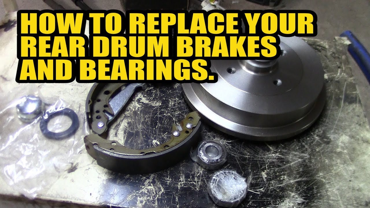 how to replace your rear drum brakes and bearings on you golf polo felicia a3 caddy youtube. Black Bedroom Furniture Sets. Home Design Ideas