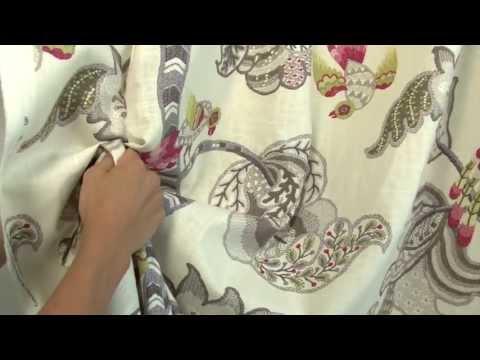 Video of Braemore Henrietta Pewter Fabric #104146